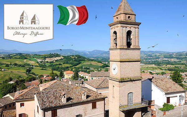 Dovolená v italských venkovských apartmánech na kopcích Marche 20 min. od moře