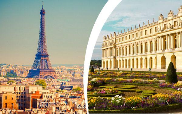 Skvostná Paříž a Versailles s dopravou a ubytováním se snídaní