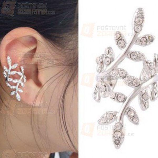Spirálová náušnice na ucho s kamínky a poštovné ZDARMA! - 25212945