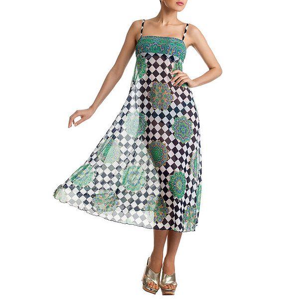 Dámská vzorovaná šato-sukně Charmante