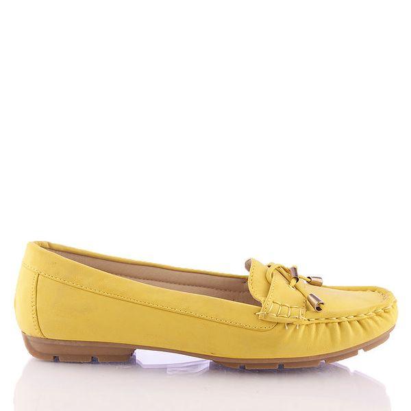 Dámské žluté mokasíny s ozdobným páskem Kickside