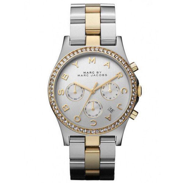 Dámské dvoubarevné hodinky se zirkony Marc Jacobs