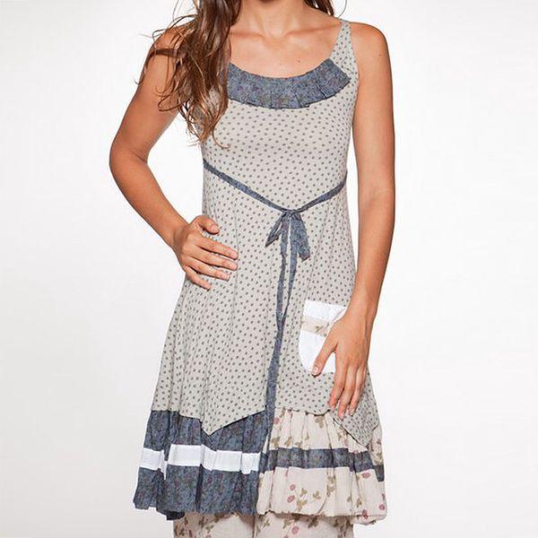 Dámské modro-béžové šaty Ian Mosh
