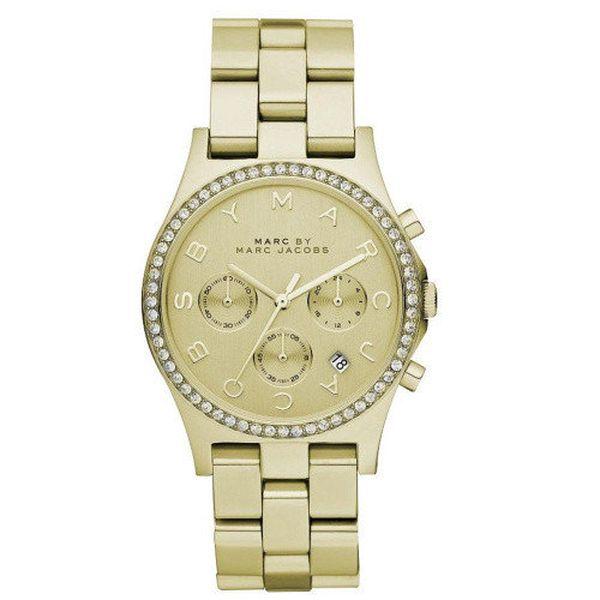 Dámské pozlacené hodinky s bílými zirkony Marc Jacobs