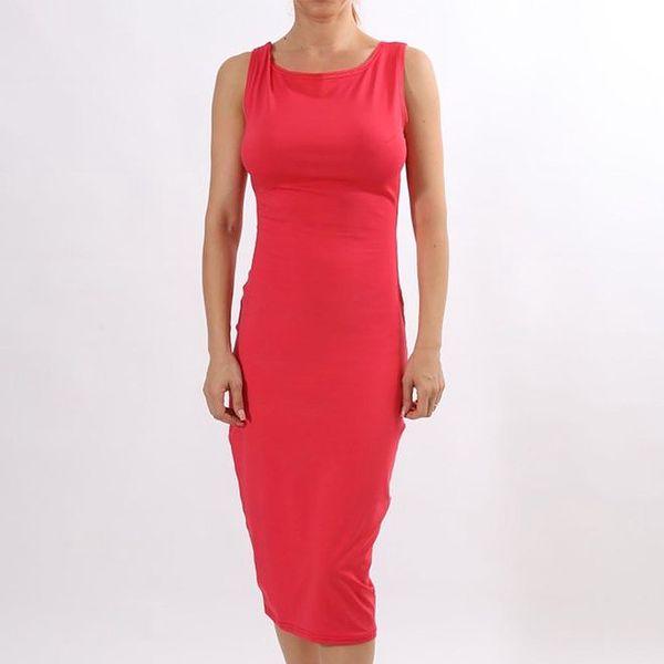 Dámské korálově červené pouzdrové šaty Santa Barbara