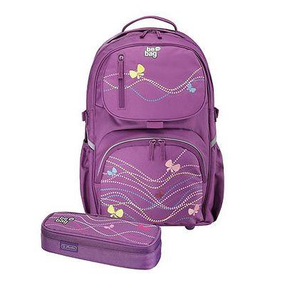 Školní batoh be. bag cube - Motýl + pouzdro
