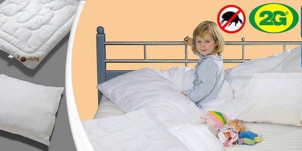 Antialergenní dětská sada přikrývky a polštáře