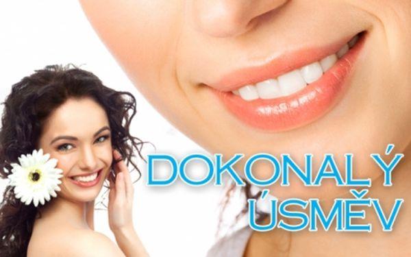 Nejšetrnější BĚLENÍ ZUBŮ bez peroxidu! Mějte zářivě bílé zuby za nejnižší cenu! Ošetření přístrojem Whiten LED pro zuby bělejší o 2 až 8 odstínů. Oblíbený luxusní salon Slim For You na Praze 3!