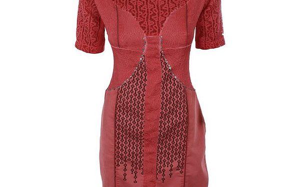 Dámské rudé šaty s flitry na břiše Angels Never Die