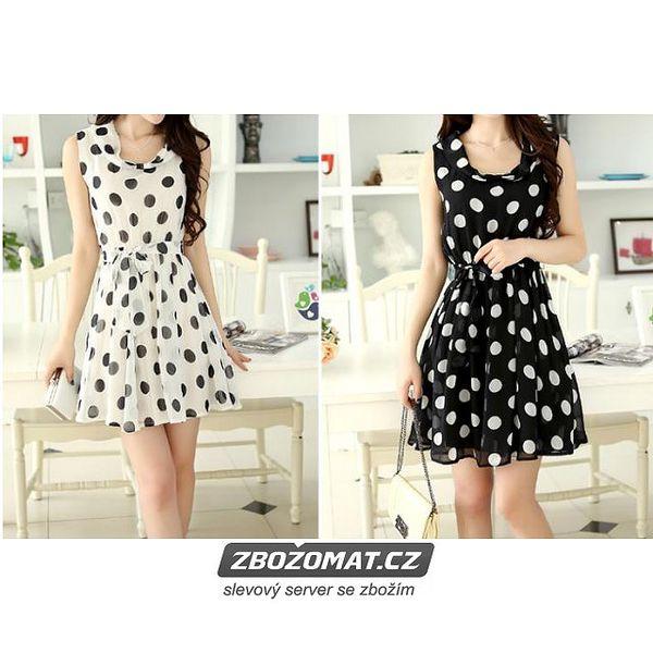 Černobílé šaty s puntíky!