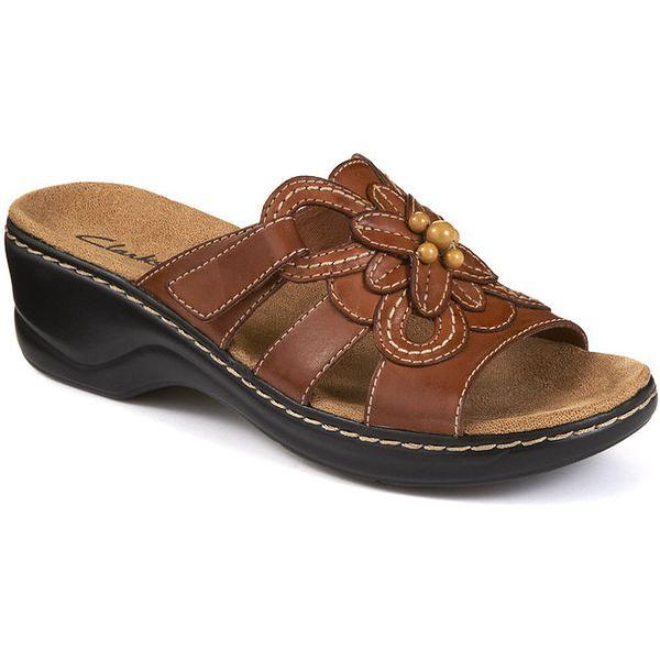 Dámské nazouvací sandály s květinou Clarks