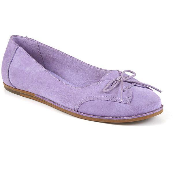Dámské fialové semišové botky s tkaničkami Clarks