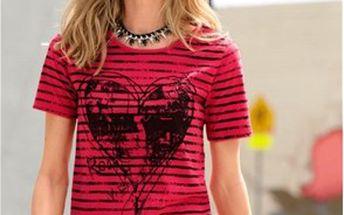 Tričko, červená, černá