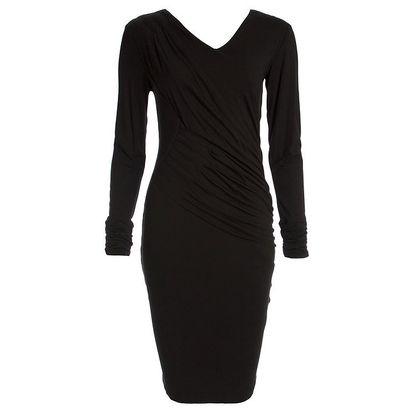 Dámské černé šaty s dlouhým rukávem CeMe London