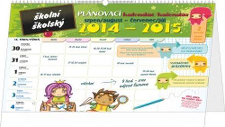 Školní plánovací kalendář s háčkem (srpen 2014 - červenec 2015), 2015, 30 x 21 cm