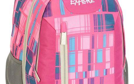 Školní batoh 2v1 EXPLORE - Girl Piccaso - růžový