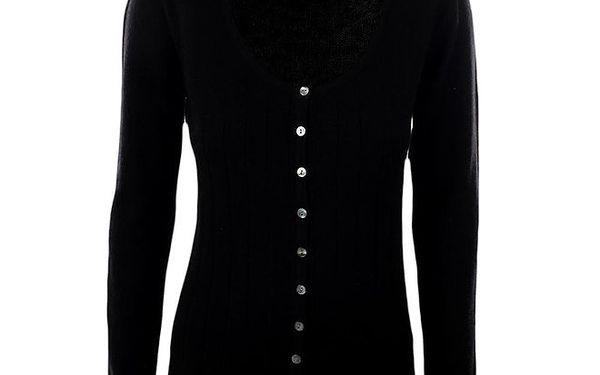 Dámský černý propínací svetřík Pietro Filipi