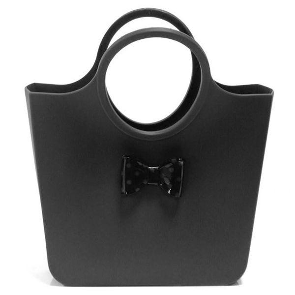 Dámská černá taška s puntíkatou černou mašličkou Favolla