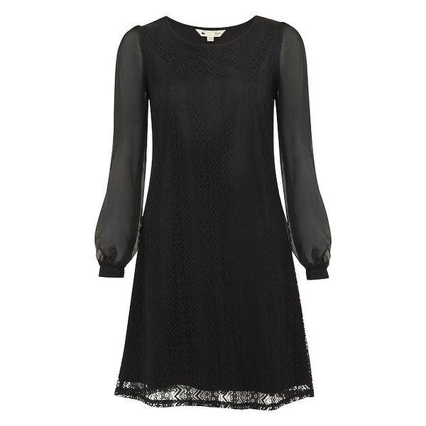 Dámské černé krajkové šaty Yumi