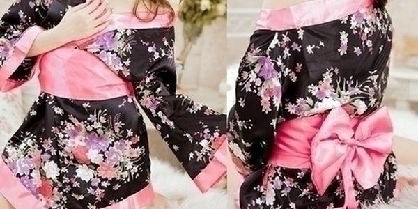 Nádherná, sexy, hedvábná noční košilka Japanesse K...