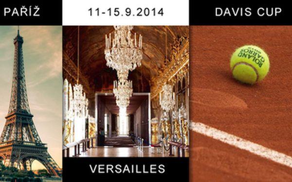 2.990 Kč za 5-denní zájezd do Paříže v termínu konání semifinále DAVIS CUPU 11. - 15.9.2014 včetně ubytování na 2 noci, možnosti zakoupení vstupenky na semifinále FRANCIE vs ČESKO a prohlídky Paříže