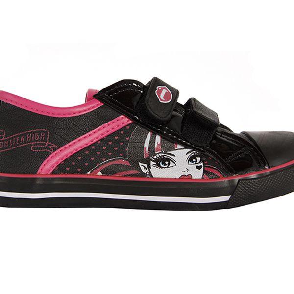 Černo-růžové tenisky Monster High
