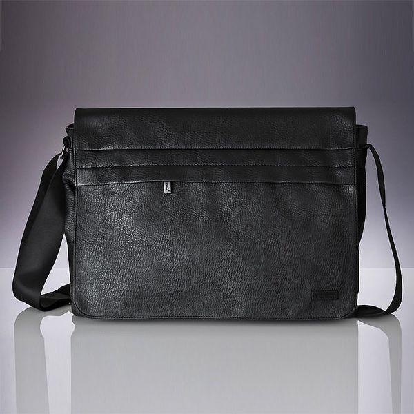 Pánská černá messenger taška přes rameno Verso