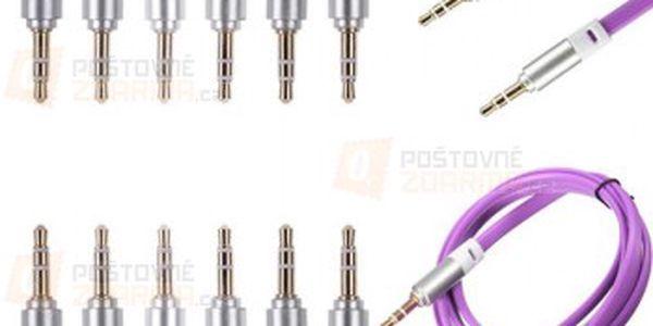 Plochý propojovací kabel s 3,5 mm audio jack konektory - 7 barev a poštovné ZDARMA! - 25513020