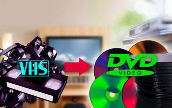 PŘEVOD videozáznamu z VHS kazety na DVD 60-130 minut od 75 Kč! Neváhejte, investice do uchování krásných vzpomínek se Vám skutečně vrátí! Uchovejte Vaši rodinnou videokroniku i pro budoucí generace!
