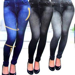 Legíny Slim n lift Caresse jeans s vysokým a širokým pasem