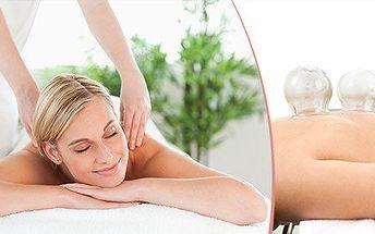 Baňkování a masáž zad