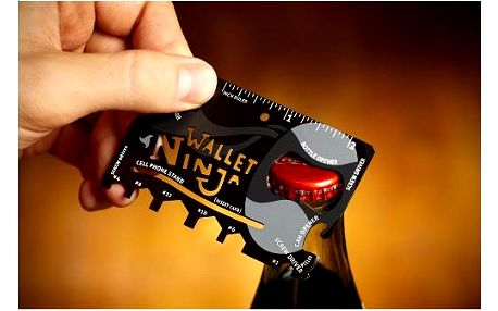 Ninja Wallet multifunkční kreditní karta 18v1