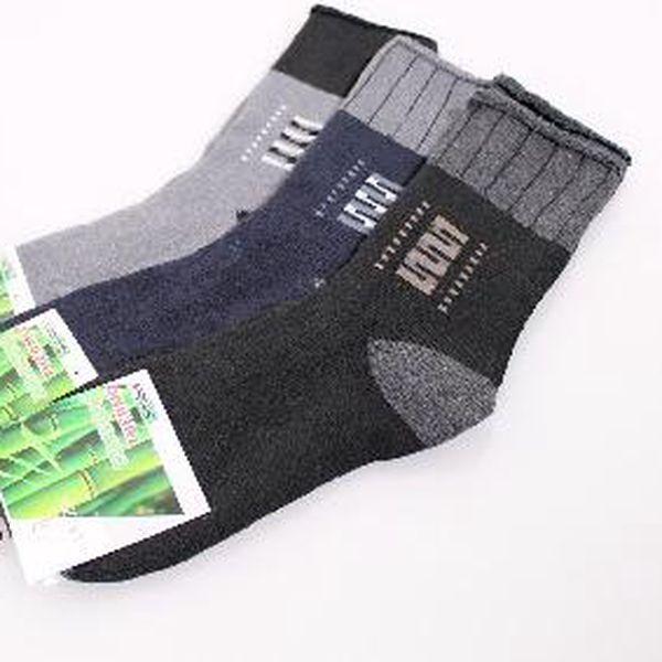 Pánské bambusové zdravotní thermo ponožky - 6 párů