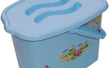 TEGA univerzální kyblík - kbelík na pleny - modrý