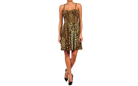 Dámské leopardí koktejlové šaty Guess by Marciano