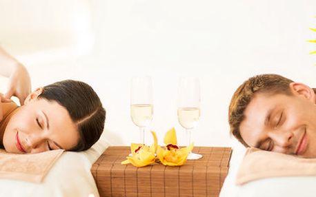 Romantická párová aroma masáž se zábalem