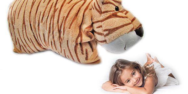 Plyšový polštářek - tygr