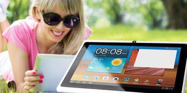 Multimediální 7palcový tablet s Android 4.1, obalem a vstupem pro 3G dongle