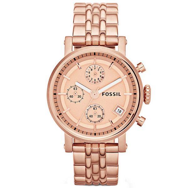 Dámské hodinky v barvě růžového zlata Fossil