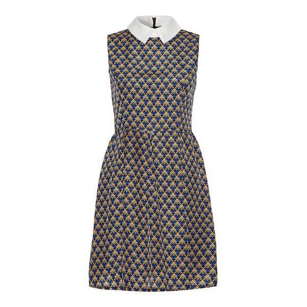 Dámské vzorované šaty s límečkem Iska