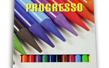 Koh-i-noor Pastelky Progresso dlouhé - 12 barev,