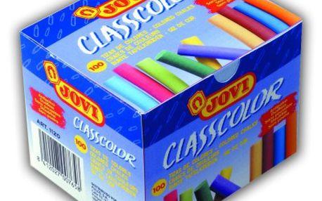 Křídy školní Jovi - 100 kusů barevné, bezprašné - velikost cca 8 cm, průměr 0,7 cm
