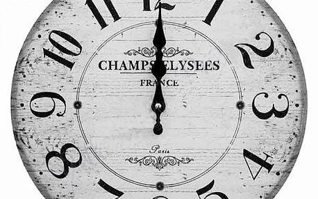 Nástěnné hodiny Champselysees ve stylu francouzské Provence!