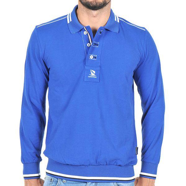 Pánské modré polo tričko Giorgio Di Mare
