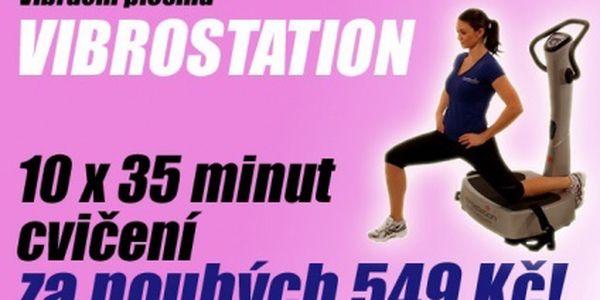 10 lekcí cvičení s trenérem na Vibrostation v centru Prahy za exkluzivních 499 Kč!