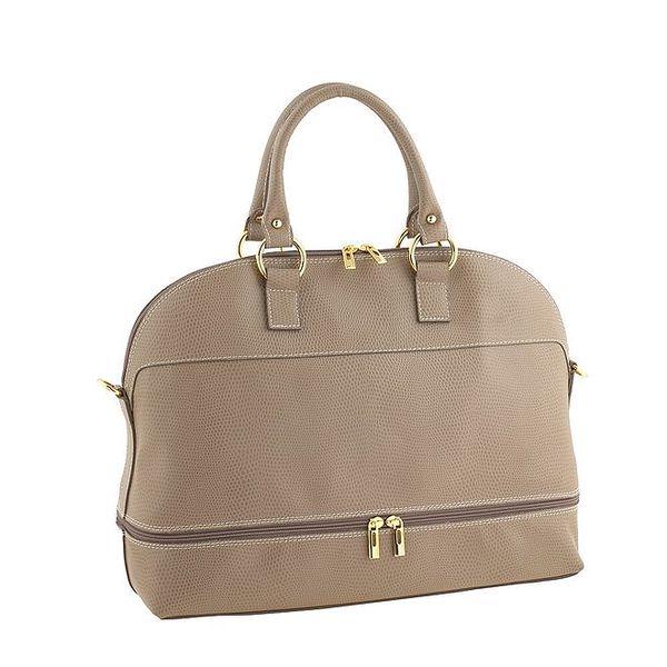 Dámská písková kabelka se zlatými zipy Valentina Italy
