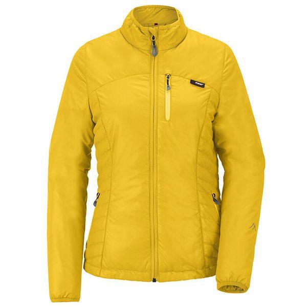 Dámská žlutá prosívaná bunda se stojáčkem Maier