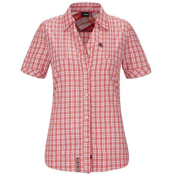 Dámská červená károvaná košile s krátkým rukávem Maier