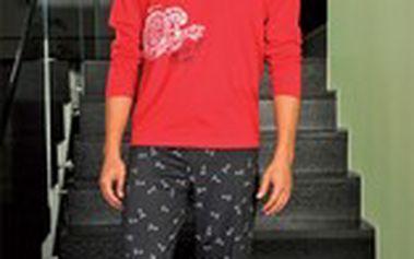 Pohodlné bavlněné pánské pyžamo PS 9184 Andrie