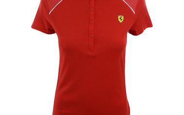 Dámské červené Ferrari polo tričko Puma